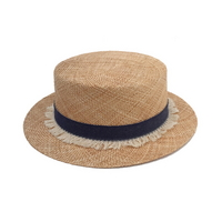 denim tassel hepburn hat