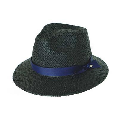 basic mannish panama hat black (7 ribbon color)