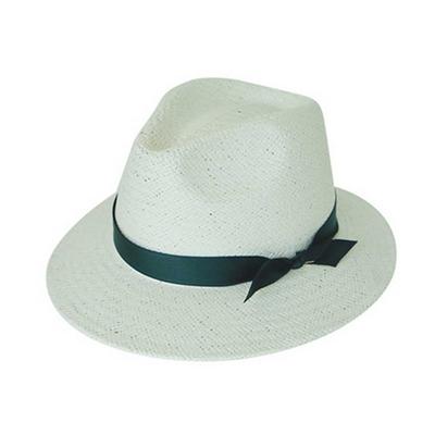 basic mannish panama hat white (7 ribbon color)