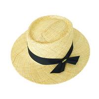 bao porkpie hat  (2 ribbon color)