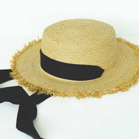 vintage strap hat   (2 ribbon color)