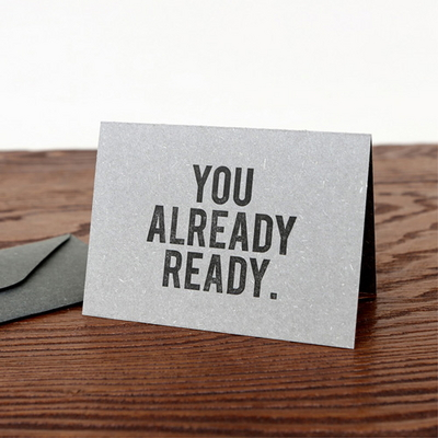 You Already Ready 레디 레터프레스 수능대박 카드