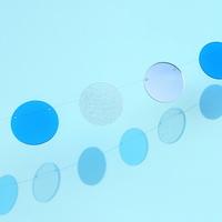 The Colors 스파클링 블루 화이트 투명 원형 가랜드
