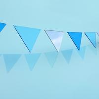 The Colors 컬러 파티 블루 파티 투명 삼각형 가랜드