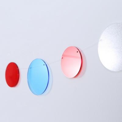 The Colors 체리 스카이 오렌지 스카이 투명 원형 가랜드