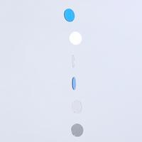 The Colors 스파클링 블루 화이트 투명 원형 모빌