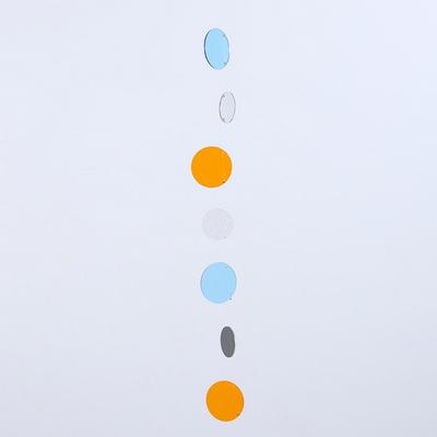 The Colors 체리 스카이 오렌지 스카이 투명 원형 모빌