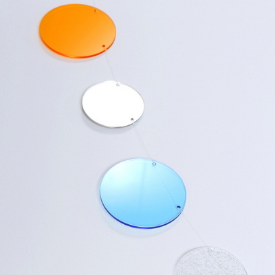 The Colors 오렌지 스카이 투명 원형 모빌