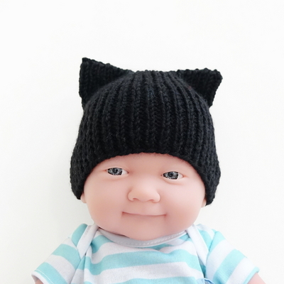 니팅 키트 - 아기 고양이모자