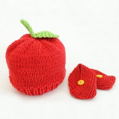 니팅 키트 - 아기 사과 모자