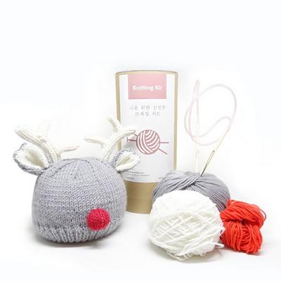 니팅키트- 아기 루돌프 모자