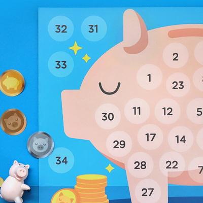 돼지저금통 칭찬스티커 3set