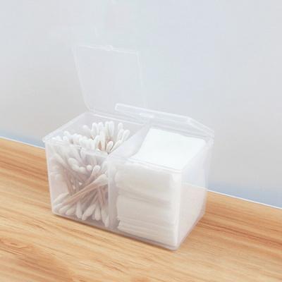 반투명 화장솜 면봉 케이스 2구