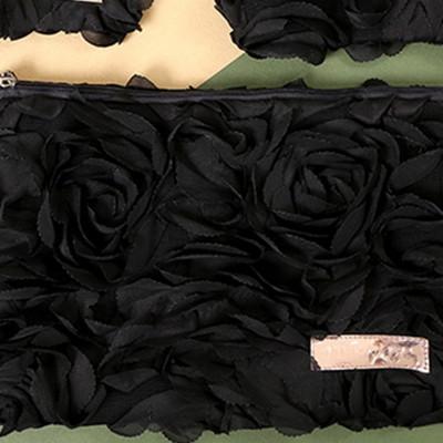 꽃잎 파우치 Black L_Size