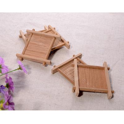 정자 대나무 잔받침 찻잔받침 차탁