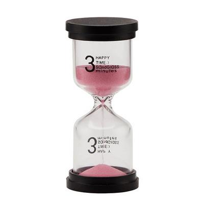 심플 유리 모래시계(3분 5분 10분)-핑크