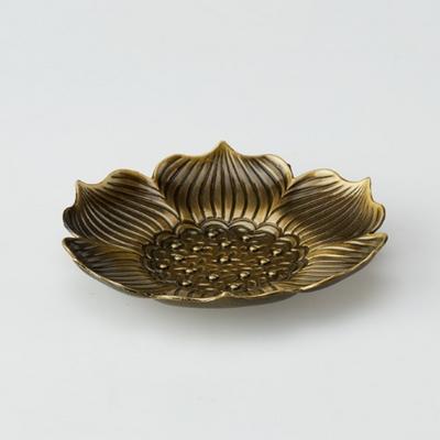 PJ190109-11 청동 연꽃 무늬 찻잔 받침