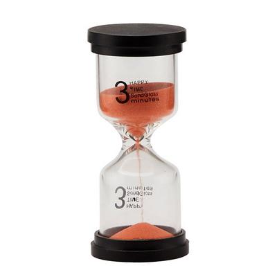 심플 유리 모래시계(3분 5분 10분)-오렌지