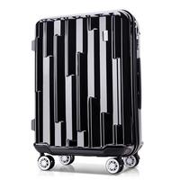 토부그 376 블랙 24인치 수화물용 폴리카보네이트 캐리어 여행가방