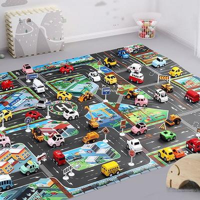 자동차도로매트 미니카 주차놀이 도로놀이 놀이방매트
