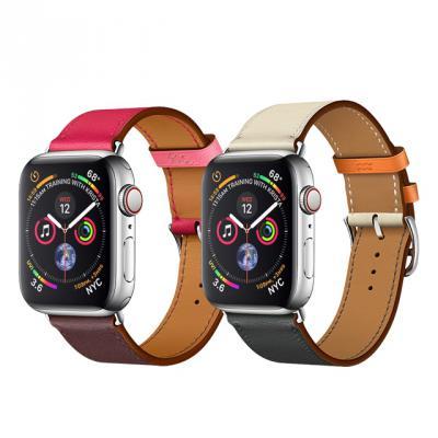 애플워치 4 3 2 싱글 더블투어 가죽 밴드 시계줄 스트랩