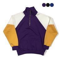 기모Color Block Half Zip-up Sweatshirt (3color)(unisex)