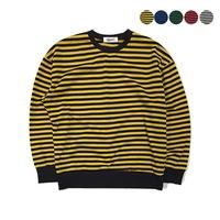 기모Color Pop Stripe Sweatshirt(5color)(unisex)