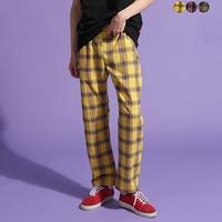 Funky Tartan Check Wide Pants(3color)(unisex)