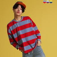 Over  Crop Stripe T-shirt(3color)(unisex)