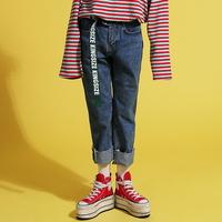 Wide Crop Blue Jeans(unisex)