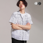 Bandana Print Open Shirt(2color)(unisex)