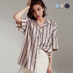 Striped Pajamas Open Shirt(3color)(unisex)