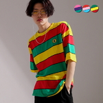 Cartoon Stripe Overfit T-shirt(3color)(unisex)