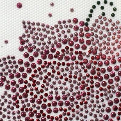 핫픽스 모티브 의류 외 디자인 제품 리폼 핑크 장미