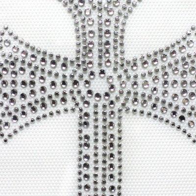 핫픽스 모티브 디자인 십자가 Silver Cross