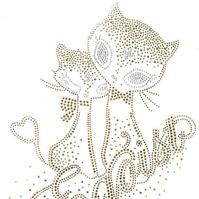 핫픽스 모티브 디자인 골드고양이 Gold cat