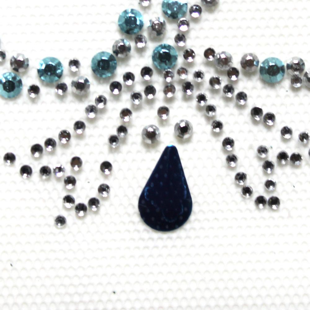 핫픽스 모티브 디자인 미니 리본 블루 - 투맨, 3,800원, 스티커, 디자인스티커