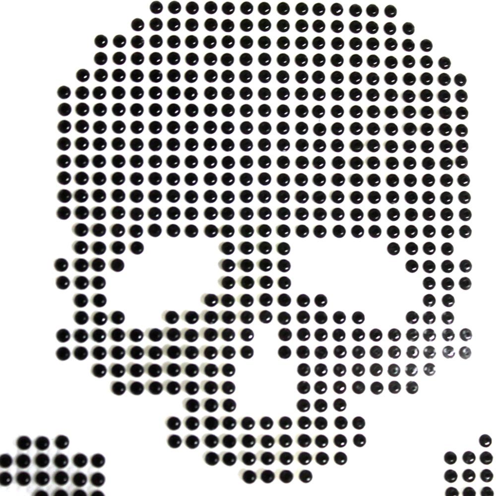 핫픽스 모티브 디자인 미니 해골 블랙 - 투맨, 2,500원, 스티커, 디자인스티커