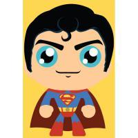 DIY명화그리기세트 귀여운 슈퍼맨 10X15