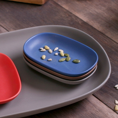 까사밀라 라운드 작은 접시(라피스 블루)