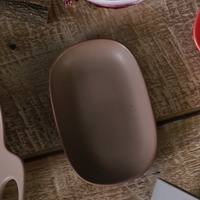 까사밀라 라운드 작은 접시(카카오닙스 브라운)