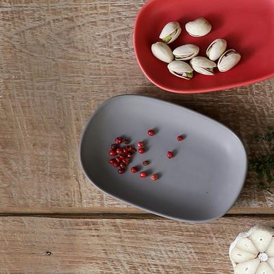 까사밀라 라운드 작은 접시 2p(그레이+브라운)