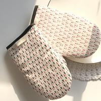 홈스토랑 삼각 패턴 면 주방장갑(A타입-그레이)