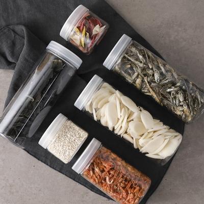 냉장고 원형 보관용기(중) 4개+스티커 32종