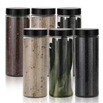 냉장고 원형(블랙) 보관용기(대) 6개+스티커 32종