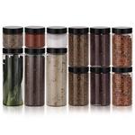냉장고 원형(블랙) 보관용기 알뜰형 12p(대3 중6 소3)+스티커 32종