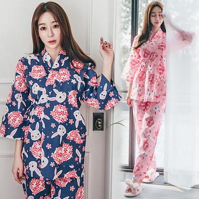 토끼 유카타 잠옷 2SET 기모노