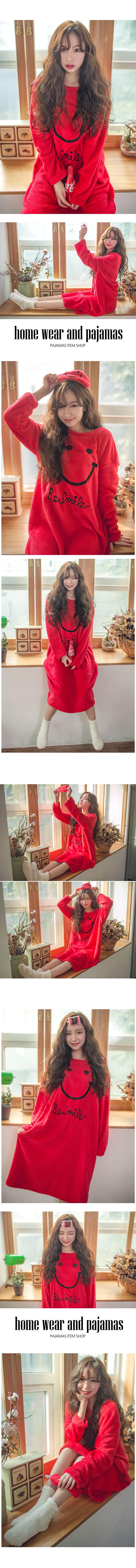 따뜻한 스마일 수면잠옷 원피스 - 로로걸, 22,900원, 잠옷, 여성파자마