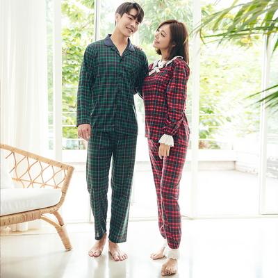 도로시 체크 커플 잠옷세트 이지웨어 홈웨어