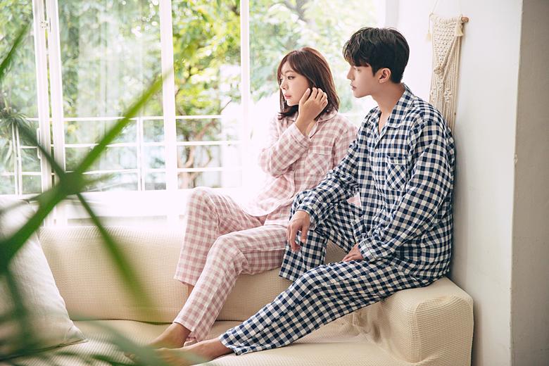 데일리 체크 커플 잠옷세트 이지웨어 홈웨어 - 로로걸, 19,900원, 잠옷, 커플파자마